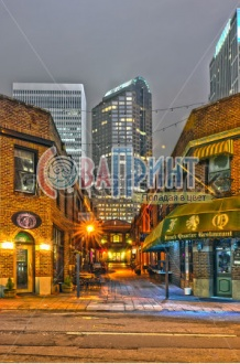 stock-photo-charlotte-nc-december-night-view-of-a-narrow-alley-street-with-restaurants-in-168855308