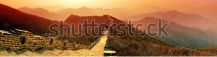stock-photo-great-wall-panorama-in-the-morning-with-sunrise-and-colorful-sky-in-beijing-china-167178056