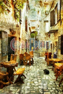 stock-photo-streets-of-old-croatia-picture-in-artistic-retro-style-23364400