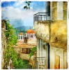 stock-photo-greek-streets-and-monasteries-artwork-in-painting-style-81951082