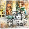 stock-photo-vintage-bike-christmas-decoration-in-street-retro-styled-pictu-224493235