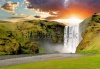 waterfalls_stock-photo-famous-waterfall-skogafoss-in-iceland-at-sunset-170753816
