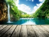 waterfalls_stock-photo-waterfall-in-deep-forest-of-croatia-and-wood-pier-147940970