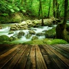 waterfalls_stock-photo-wood-floor-perspective-and-natural-mountain-waterfall-157856441